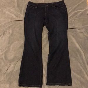 LOFT Boot Cut Curvy Dark Wash Jeans